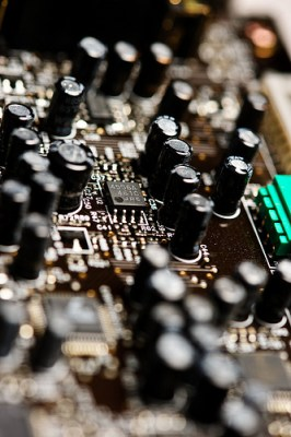 Credit: Randy Pertiet@Flickr; Macro Computer Circuit Board #4