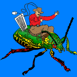 Cowboy Coders do in fact love riding bugs