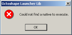 Could not find a native to execute. [ OK ]