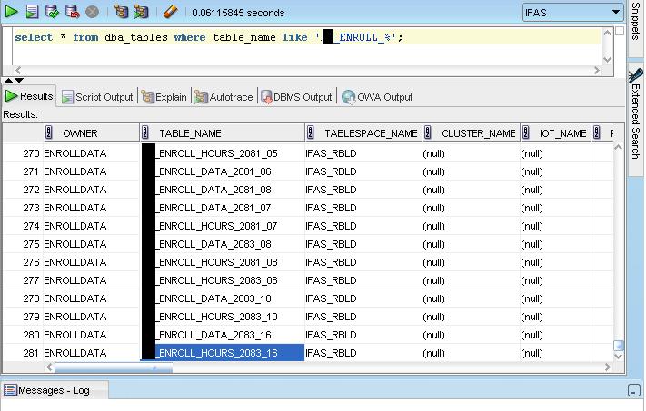 database enrollment system