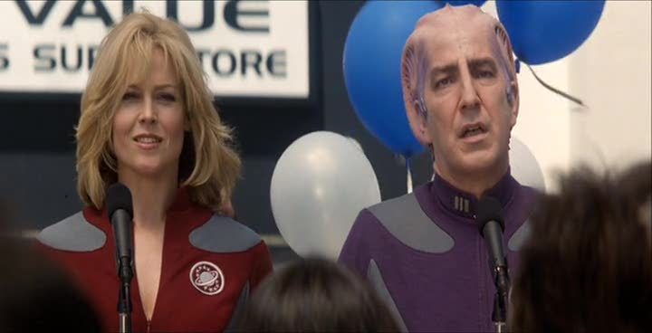 Alan Rickman, in Galaxy Quest, delivering the line, 'By Grabthar's Hammer, what a savings' while looking like his soul is dying forever.